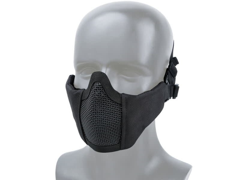 WoSport WoSport Steel Mesh Nylon Padded Lower Face Mask Small