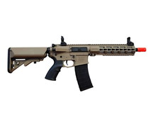 "Tippmann Tippmann M4 Commando CQB 10.5"" Keymod AEG Desert with Battery and Charger"