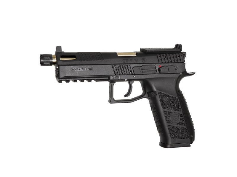 ASG ASG CZ P-09 OR (Optics Ready) GBB with CO2 Magazine and 14mm CCW Threaded Barrel