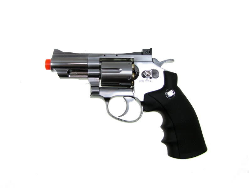 Win Gun Win Gun Full Metal CO2 6 Shot Revolver 2.5""
