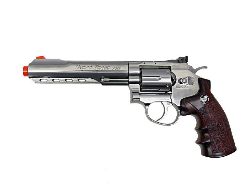 "Win Gun Win Gun Full Metal CO2 6 Shot Revolver 6"""