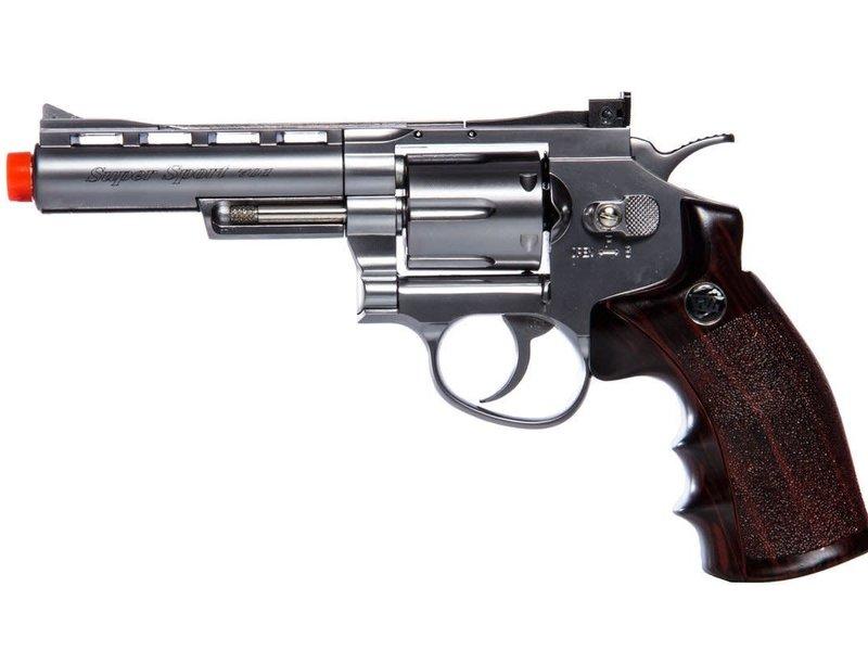 "Win Gun Win Gun Full Metal CO2 6 Shot Revolver 4"""