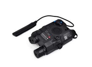 Airsoft Extreme LA-5C PEQ15 green laser/light aiming device, black