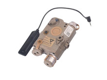 Airsoft Extreme LA-5C PEQ15 red laser/light aiming device, dark earth