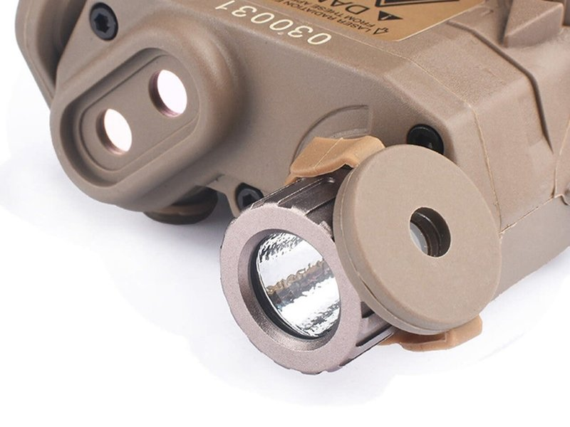 Airsoft Extreme LA-PEQ15 LED Light / Green Laser Aiming Device Dark Earth