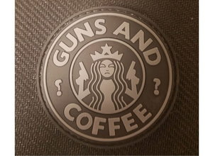 DDT DDT Guns and Coffee Morale Patch Subdued Black