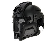UK Arms UKARMS Interstellar Battle Trooper Full Face Airsoft Helmet Black