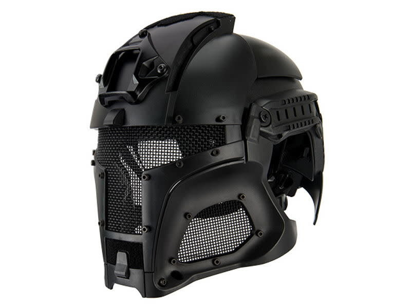 UK Arms UKARMS Interstellar Battle Trooper Full Face Airsoft Helmet Black
