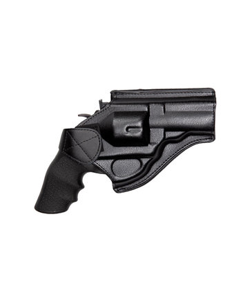 "ASG Belt holster for 4"" revolvers, leather, black"