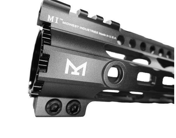 """Castellan M-Lok lightweight 10"""" handguard, gray"""