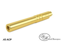 Airsoft Masterpiece Airsoft Masterpiece Hi Capa 5.1 .45 ACP Threaded Fixed STEEL Outer Barrel Gold