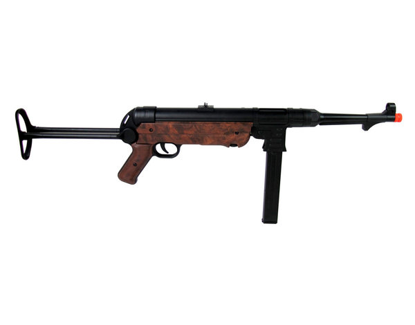 AGM AGM MP40 MP007 Full Metal Electric Rifle with Battery and Charger, Wood Pattern Furniture