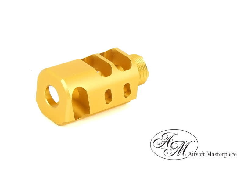 "Airsoft Masterpiece Airsoft Masterpiece 1.5"" STI Open Slide Compensator Ver.7 Gold"