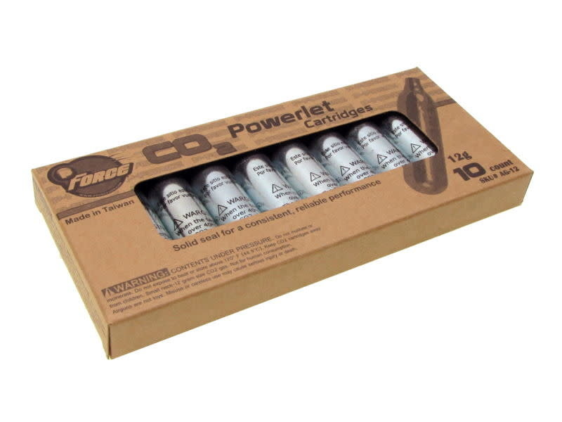 Prima USA P-Force 12g CO2 cartridge, 10 pack