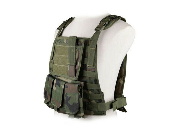 WoSport WoSport MOLLE Plate Carrier with Triple M4 Magazine Pouch and Admin Panel