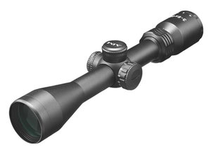 Aimsports Aimsports 3-9X40 Dual Illumination Full Size Target Scope with Rings, Mil-Dot Reticle
