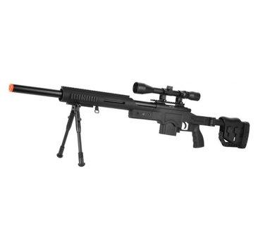 Well WELL MB4410 M24 Rifle w/ Scope+Bipod Black
