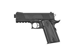 """ICS ICS Korth PRS 4"""" Blowback Green Gas Pistol Black"""