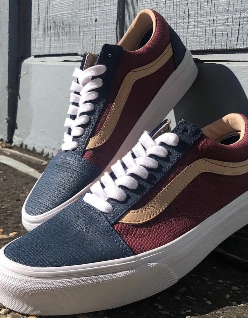 Vans Old Skool (Textured Suede) Sailor Blue/ Port