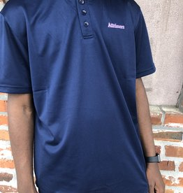 Alltimers Navy Foreign Mesh Top