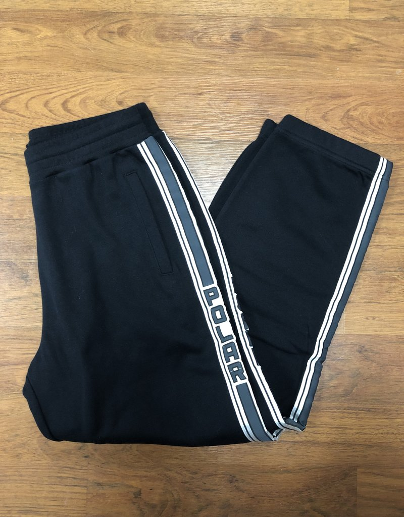 Polar Striped Sweat Pant Black