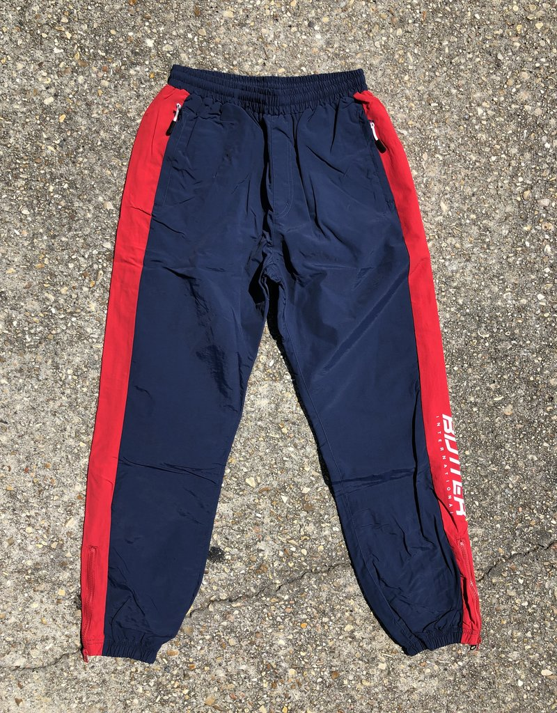 Butter Goods Runner Tracksuit Pants Navy/Red