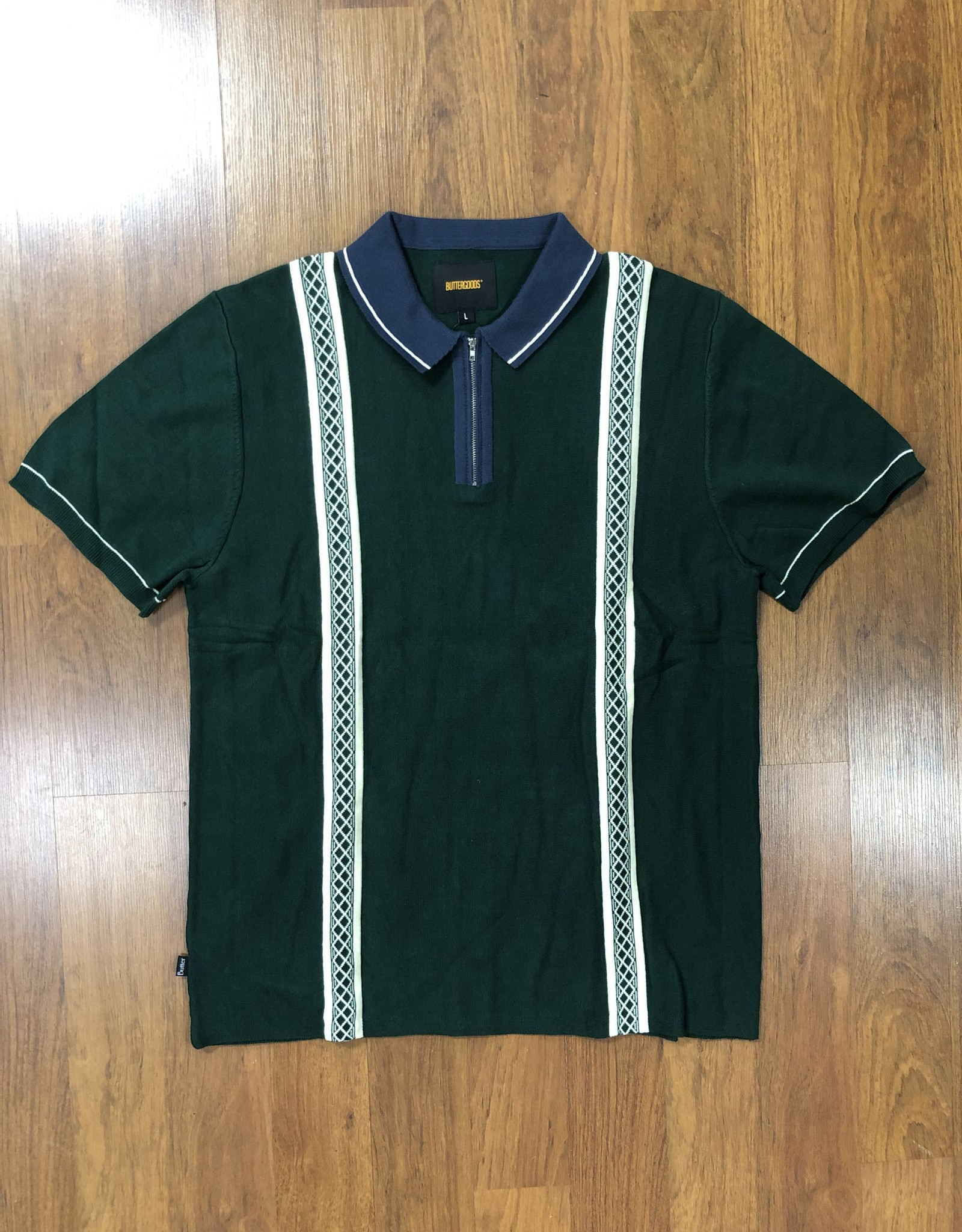 Butter Goods Newark Zip Polo Forest