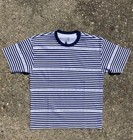 Polar Stripe Logo Tee Dark Blue
