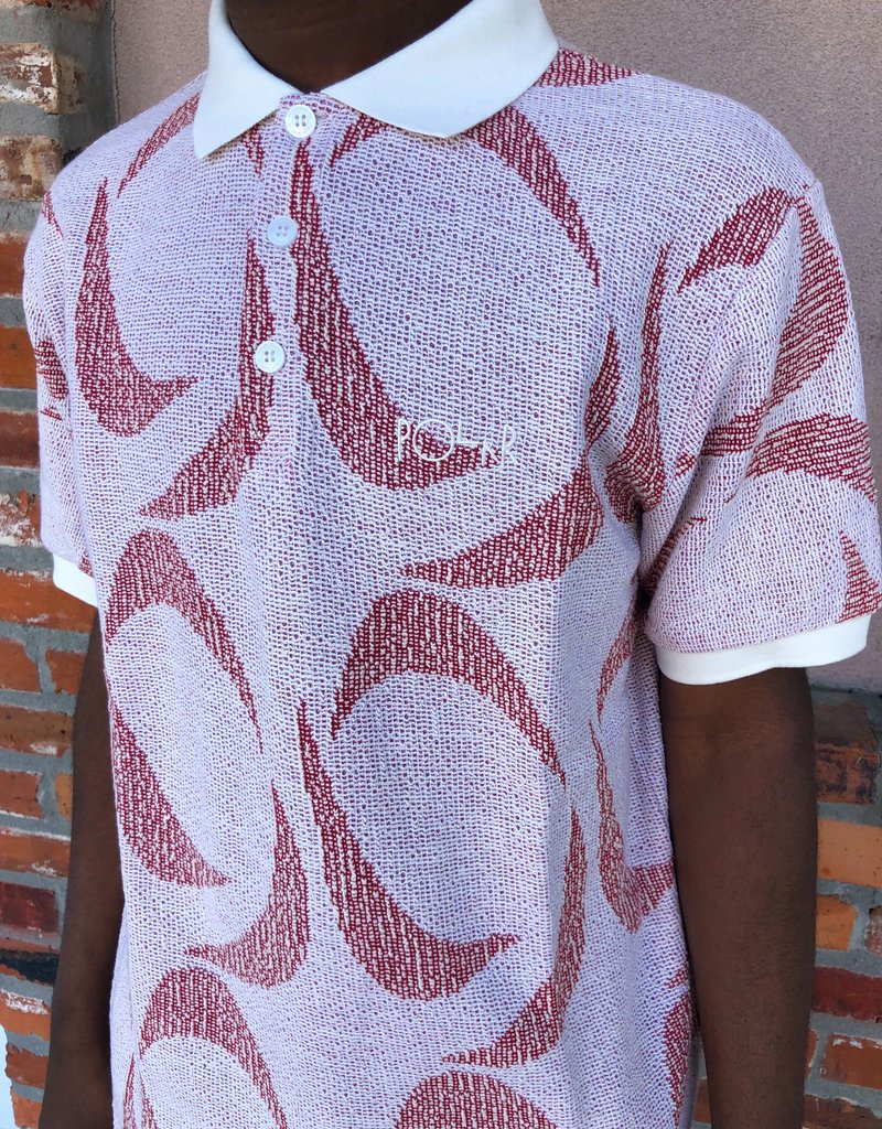 Polar Patterned Polo Shirt Ivory/Red