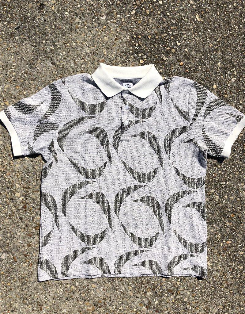 Polar Patterned Polo Shirt Ivory/Black
