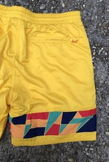 Helas Mosaic Shorts Yellow