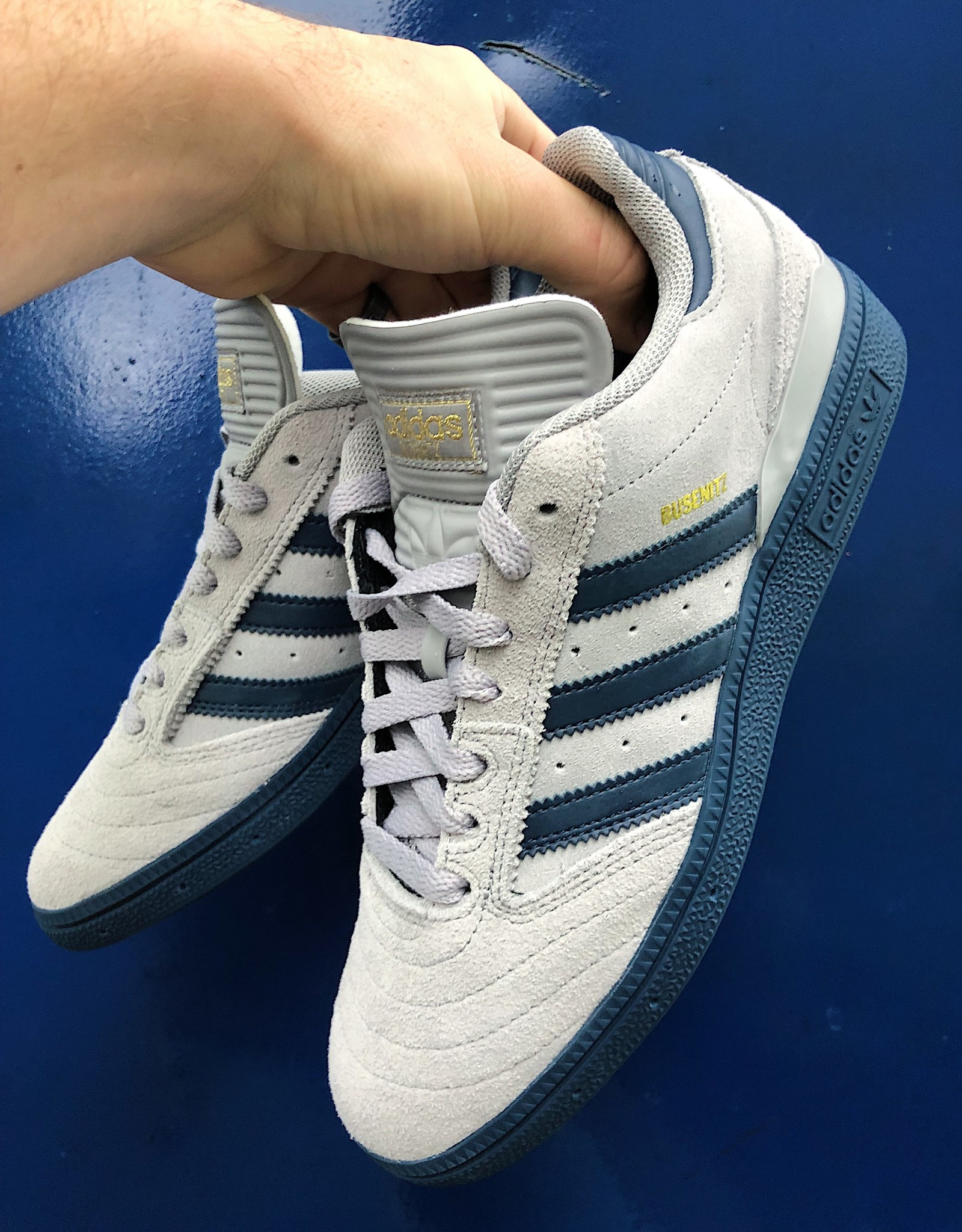 adidas Busenitz Light Grey/ Navy