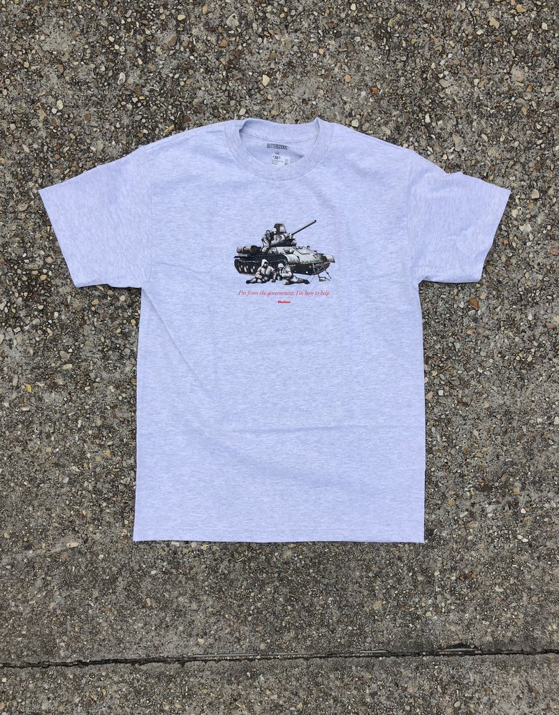 Butter Goods Government Tee Ash Grey