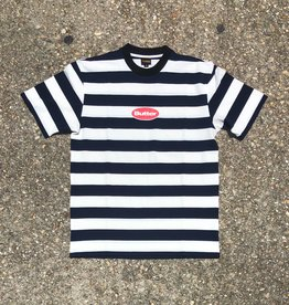 Butter Goods Badge Stripe Tee Navy