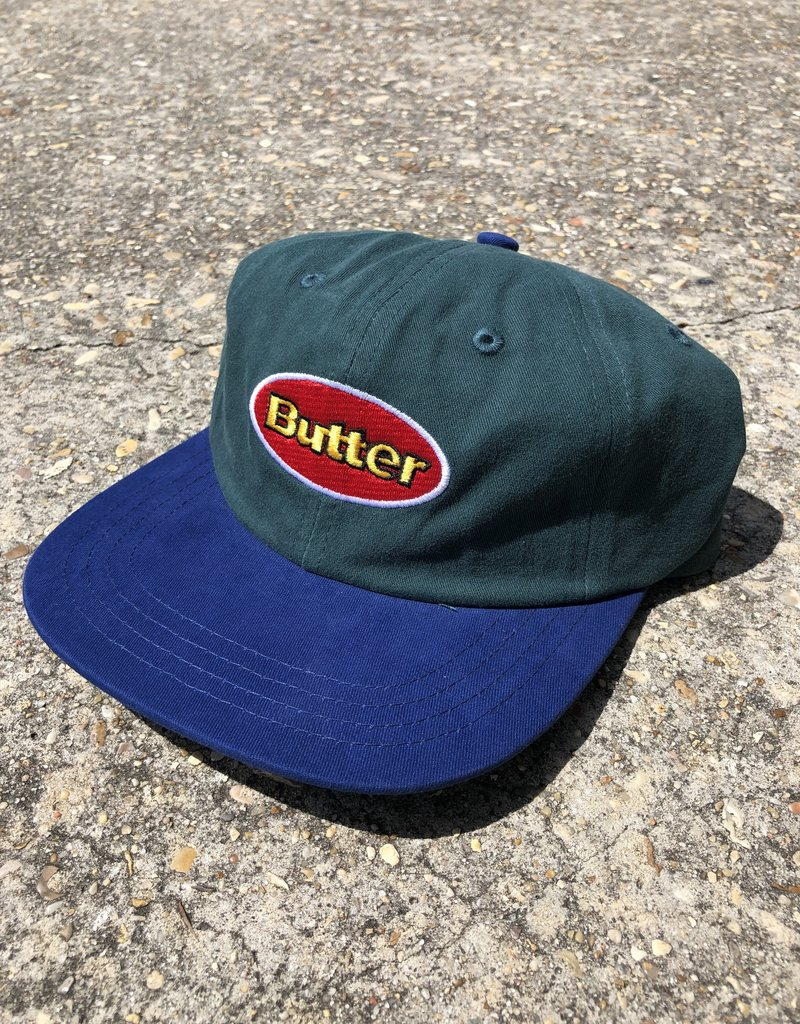 Butter Goods Badge 6 Panel Cap Forest