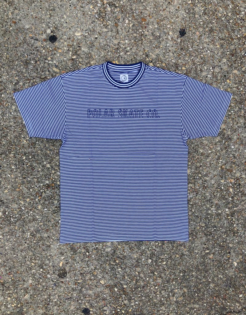 Polar Outline Stripe Tee Dark Blue