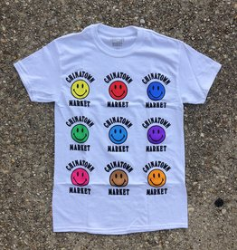 Chinatown Market Smiley Color tee white