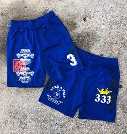adidas Print Shorts- Royal Blue