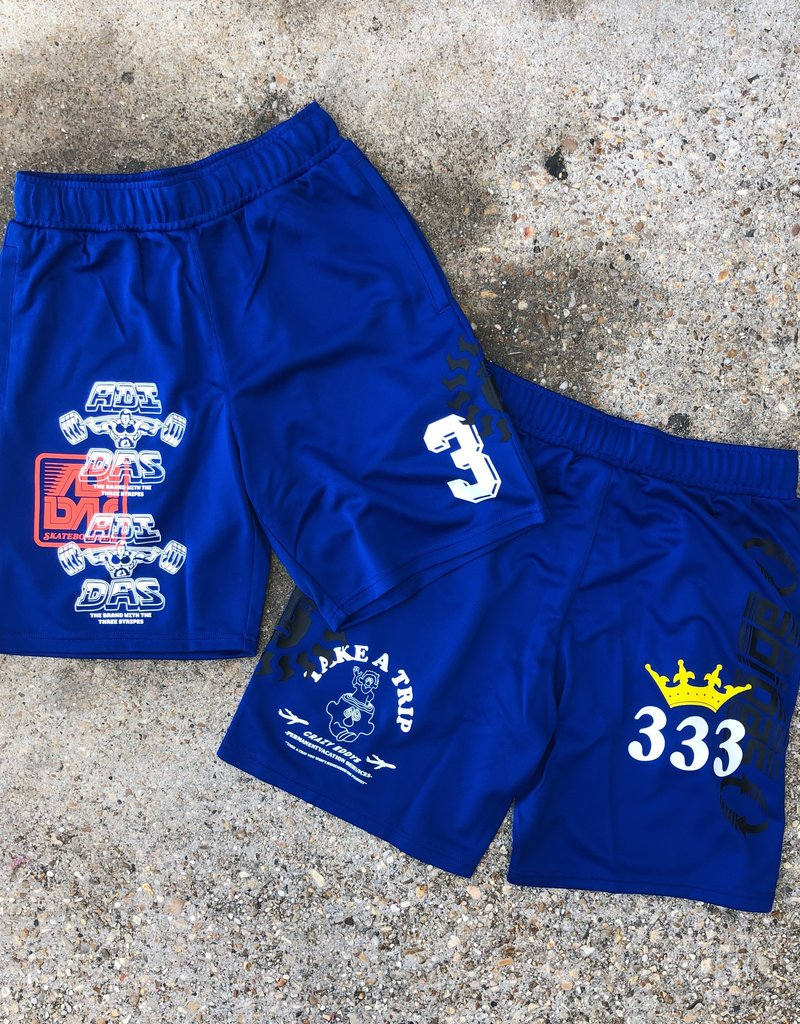 adidas Print Shorts- Royal Blue