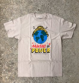 Butter Goods Music Is Power Tee sand