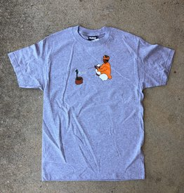"Rukus ""Snake Charmer"" tee heather grey"