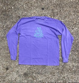 "The Quiet Life ""Pysch"" Long Sleeve T Purple washed"