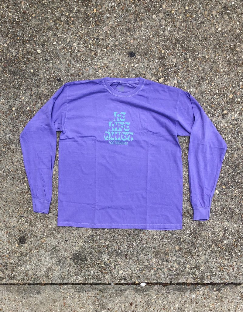 "The Quiet Life Pysch Long Sleeve T Purple ""washed"""