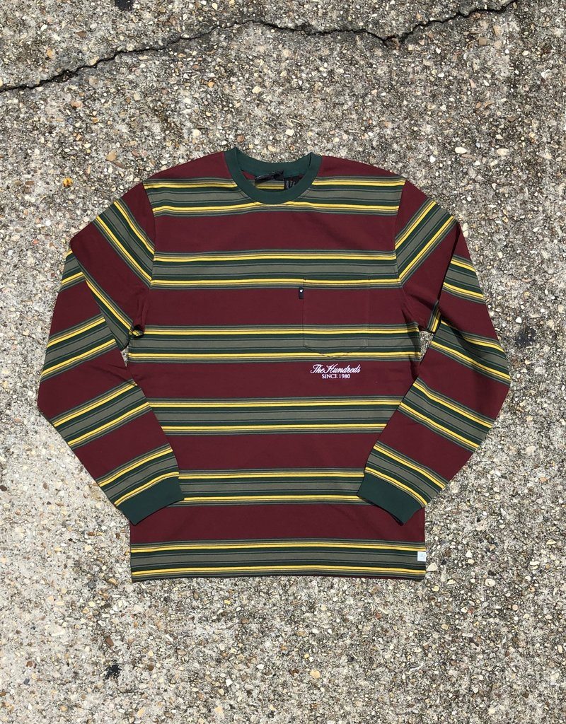 The Hundreds Norton LS T-Shirt Burgundy