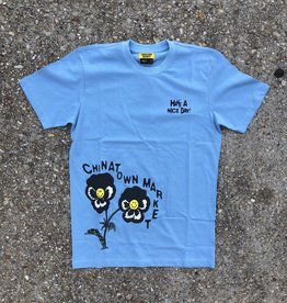 Chinatown Market Smiley Flower T-Shirt Blue