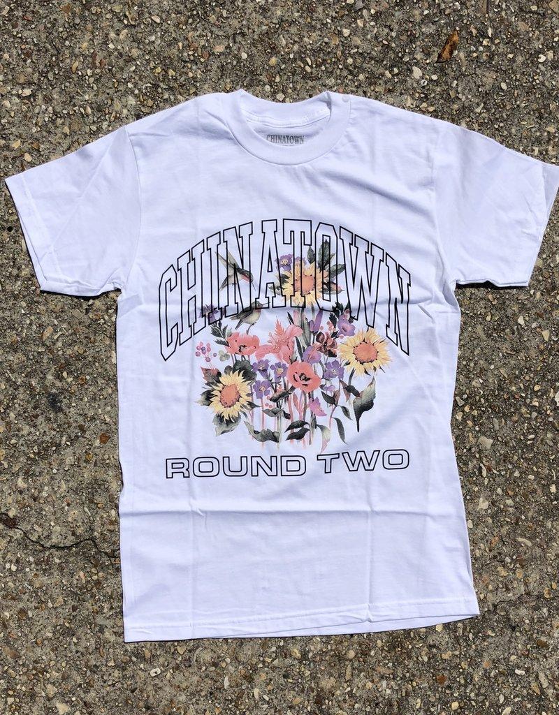 Chinatown Market x Round Two UV Flower T-Shirt White