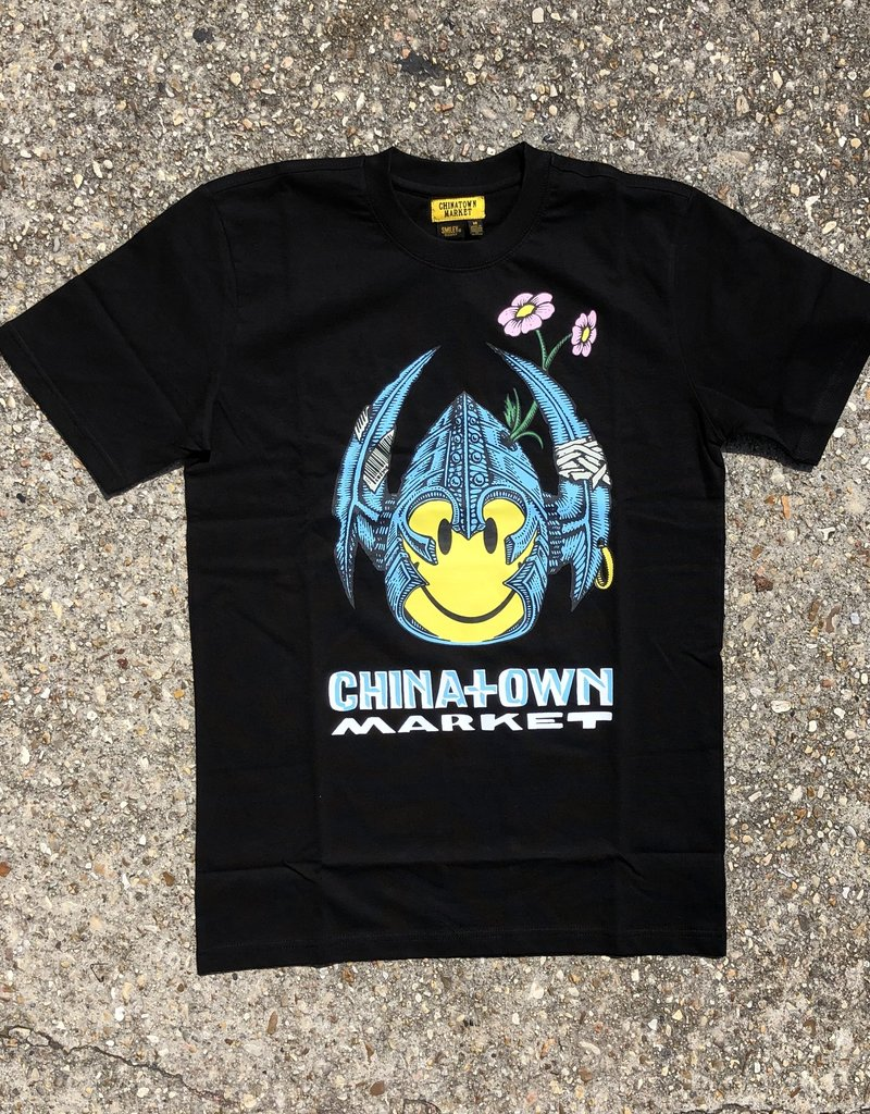 Chinatown Market Smiley Bones T-Shirt Black