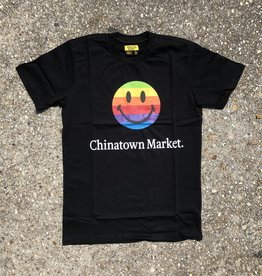 Chinatown Market Smiley Apple T-Shirt Black