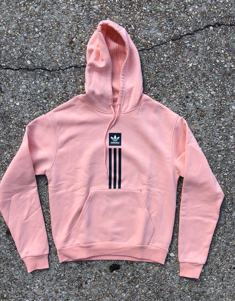 adidas Solid Pillar Hoodie Glo Pink