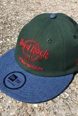 The Hundreds x Hard Rock Cafe Denim New Era Hat Moss